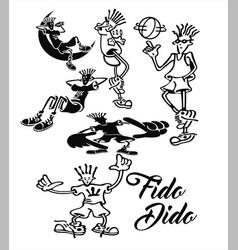Fido dido 7 up cartoon caractor pepsico vector