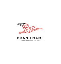 Flying swan logo design vector