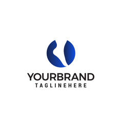 foot and care logo design concept template vector image