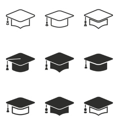 Graduation icon set vector