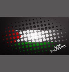 Graphic save palestine we stand with palestine vector