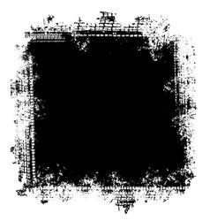 grunge tire tracks frame background vector image
