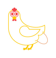 hen lays an egg chicken and eggs farm bird vector image