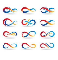 Infinity design logo template vector