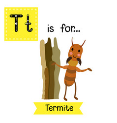Letter t tracing termite vector