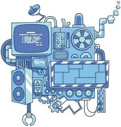 Machine 2 vector image