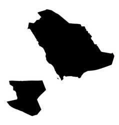 Map saudi arabia and er riad country and capital vector
