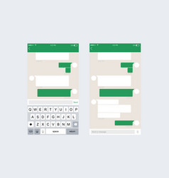 mobile ui kit messenger vector image
