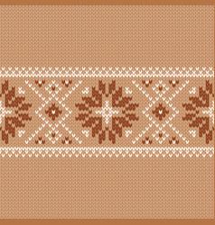 Norwegian native style sweater fair isle design vector