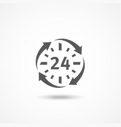 Open 24 hours a day icon vector