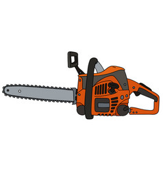 orange motor chainsaw vector image vector image