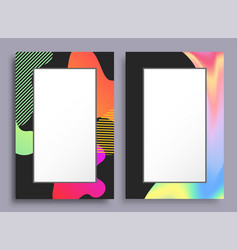 original vertical frames with stains and pattern vector image