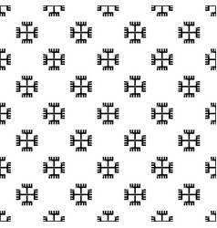 pagan ancient symbol pattern seamless vector image
