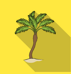 Palm beach treesummer rest single icon in flat vector