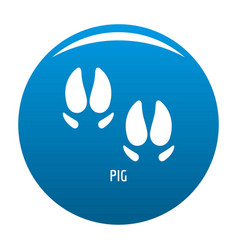 pig step icon blue vector image