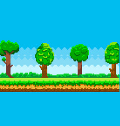 pixel-game background pixel art game scene with vector image