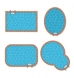 Pool Set Top View vector image