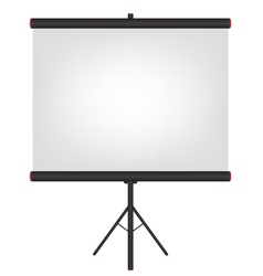 Projector screen black vector image