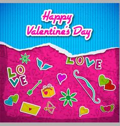 Romantic bright template vector