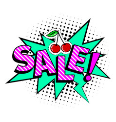 sale cartoon icon vector image