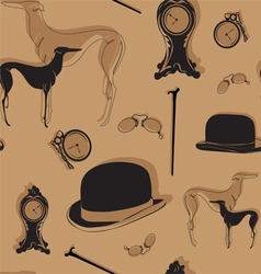 seamless background with vintage items vector image