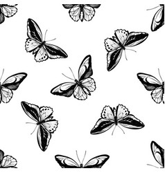 seamless pattern with black and white common green vector image