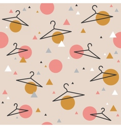 Seamless pattern with hangers sale wrapping paper vector