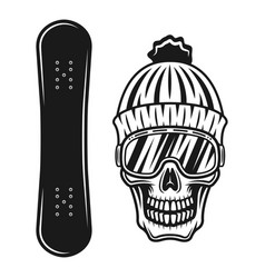 snowboarding objects or design elements vector image
