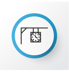 Street clock icon symbol premium quality isolated vector
