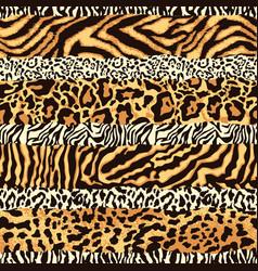 striped wild animal skins patchwork vector image