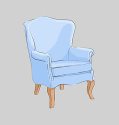 stylish armchair on a gray background vector image