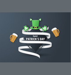Template for st patricks day on sunday march 17 vector
