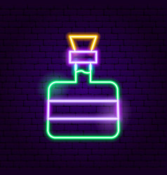 Tequila bottle neon sign vector