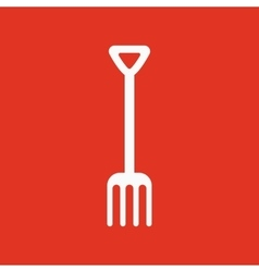 The pitchfork icon Fork symbol Flat vector image