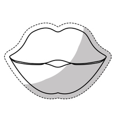 Thick lips icon image vector