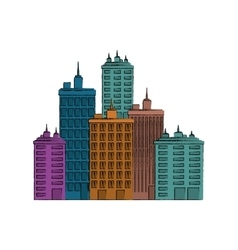 Urban city view vector
