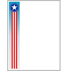 usa flag symbols border ribbon vector image