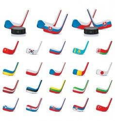 Vector ice hockey sticks count vector