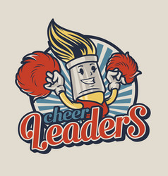 Vintage college colorful emblem vector