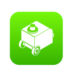 welding machine icon green vector image
