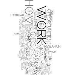 Work at home scams text word cloud concept vector
