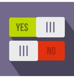 Yes and No button icon flat style vector image