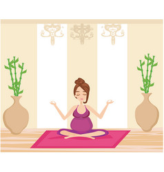Yoga for pregnant woman vector