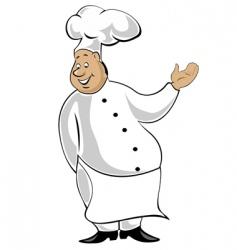 chef in uniform vector image vector image