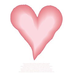 Heart watercolor pink painted vector image