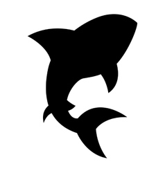 shark signal silhouette icon vector image vector image