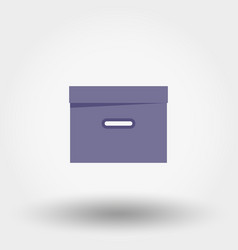 box organizer for files documents vector image vector image