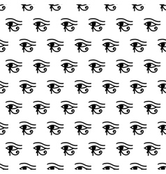 Eye of Horus seamless pattern vector image vector image