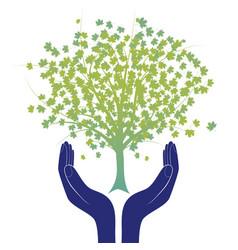 hope tree hand vector image