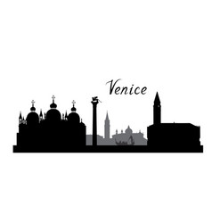 venice city famous landmarks skyline travel italy vector image